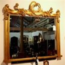 Very Good Quality Unusual William IV Giltwood Mirror (62 inches wide x 49 inches high)