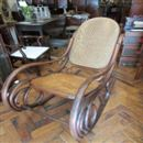 A QUALITY BENTWOOD ROCKING CHAIR