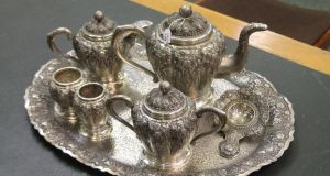 Lemass family silver  for  auction in Dublin