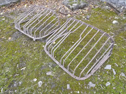 Lot Number: 1053 - Two 19th. C. wrought iron hay racks.