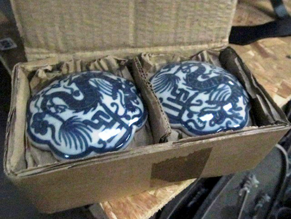 Thirty Six Pieces of Blue and White Curio Boxes