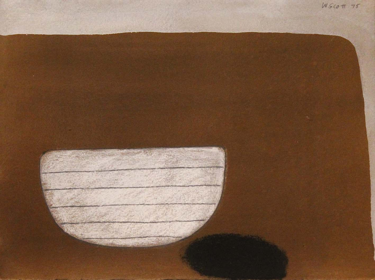 TABLE TOP STILL LIFE – BROWN AND WHITE