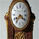 French Mantel Clock in Rouge Marble & Ormolu by Raingo Freres, Paris. Circa 1860.